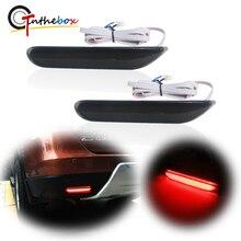 Geraucht/Rot Objektiv Rote LED Stoßstange Hinten Reflektor Brems Schwanz, nebel Lichter w/ Sequential Blinker Für Infiniti Q50 QX56 Nissan