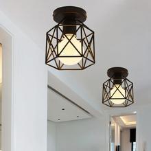 Vintage Industrial rústico montaje empotrado luz de techo lámpara de Metal accesorio estilo americano pueblo estilo Retro lámparas de luz
