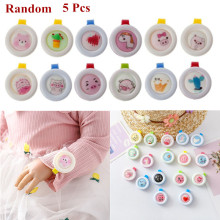 5 Pcs/set Summer Mosquito Repellent Button Baby Kids Buckle Outdoor Anti-mosquito Child Repellent Reject Adults Protection