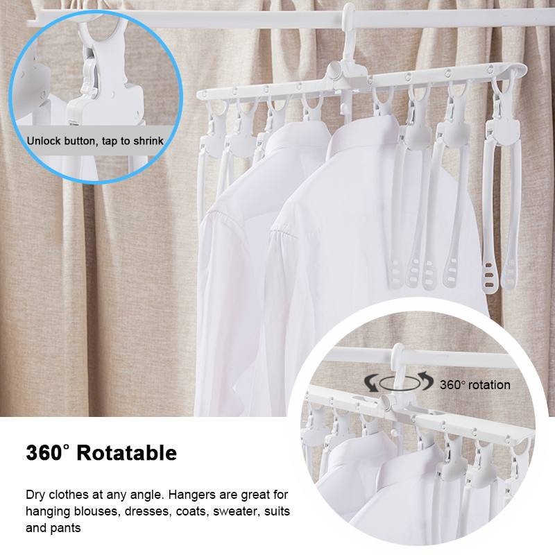 Foldable Multifunctional Magic Hanger Racks Smart Storage Artifact Clothes Drying Rack Household Multi-layer Clothing Folding