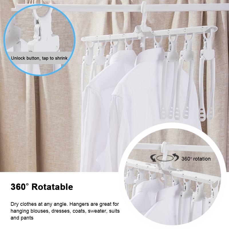 Foldable Multifunctional Magic Hanger Racks Smart Storage Artifact Clothes Drying Rack Household Multi-layer Clothing Folding