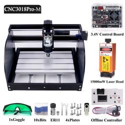 DIY CNC 3018 Pro MAX Mini CNC Router Laser Engraving Machine GRBL Offline Control 1000mW 2500mW 5500mW 7W 10W 15w Module