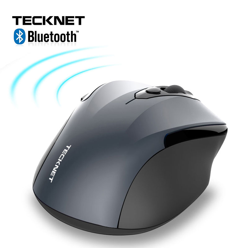 TeckNet Wireless Mouse Computer Bluetooth Mouse PC Mause Ergonomic Mouse 2.4Ghz USB Optical Mice For Laptop PC