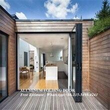 Алюминиевый профиль теплового пробоя или не Тепловой разрыв Межкомнатная Складная дверь и окно