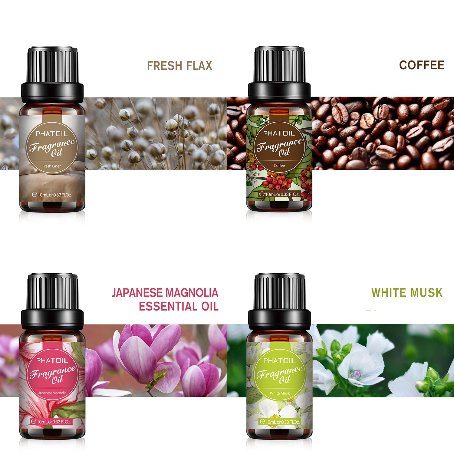 10ml White Musk Perfume Fragrance Essential Oil For Soap Candle Making Baby Powder Sea Breeze Coffee Vanilla Coconut Flavor Oil-1
