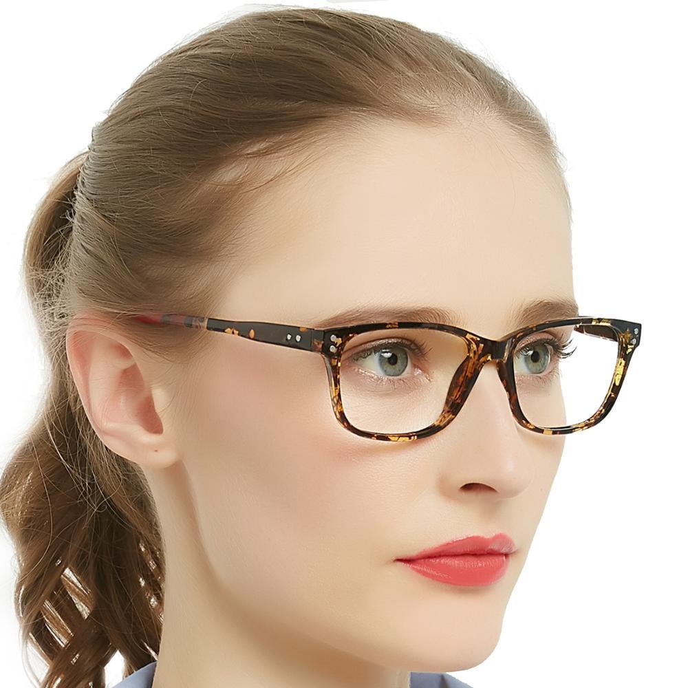 MARE AZZURO Multifocal Progressive Reading Glasses For Women Square Anti-blue blocking light Multi-focus Spectacles Eyeglass +2