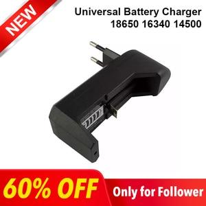 Image 1 - Универсальное зарядное устройство Deligreen 18650, литий ионное перезаряжаемое умное зарядное устройство для 14500 ,16340 батарей, 1 шт., вилка для США и ЕС