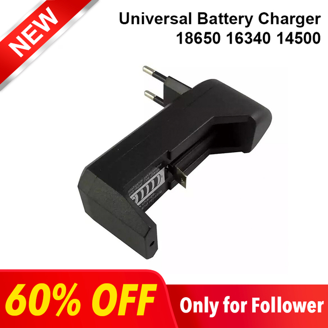 Deligreen Universal  18650 Battery Charger Li ion Rechargeable Smart Charger for 14500 ,16340 Batteries 1pcs  US EU PLUG