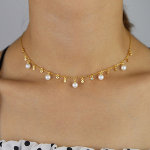 Image 5 - 100% 純粋なシルバー925ネックレスペンダント女性のためのラウンド淡水真珠ネックレスファインオフィスジュエリーシンプルなデザインビジュー