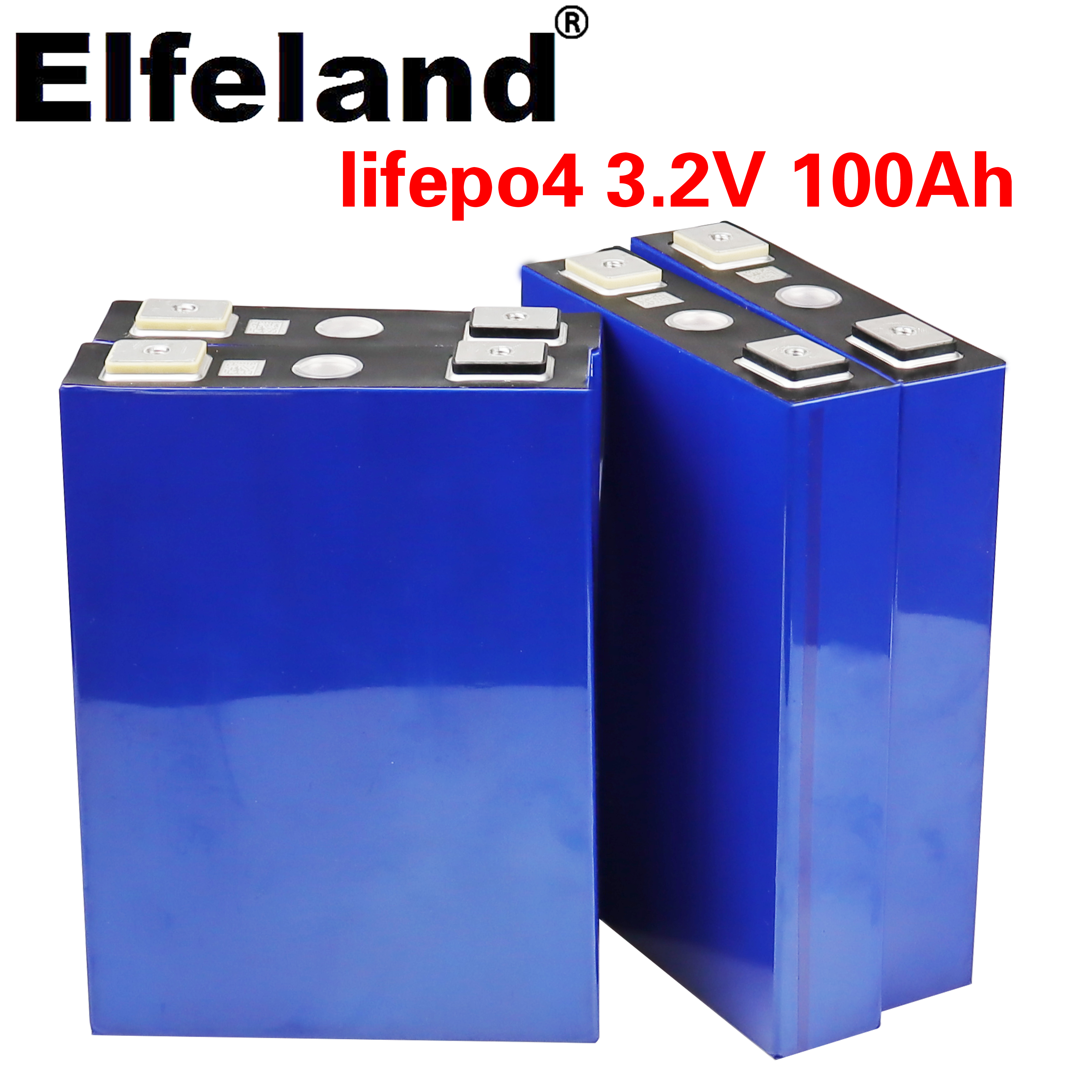 Elfeland 2020 neue 3,2 v 100Ah LifePo4 batterie lithium-12V 24V solar Inverter elektrische fahrzeug golf auto