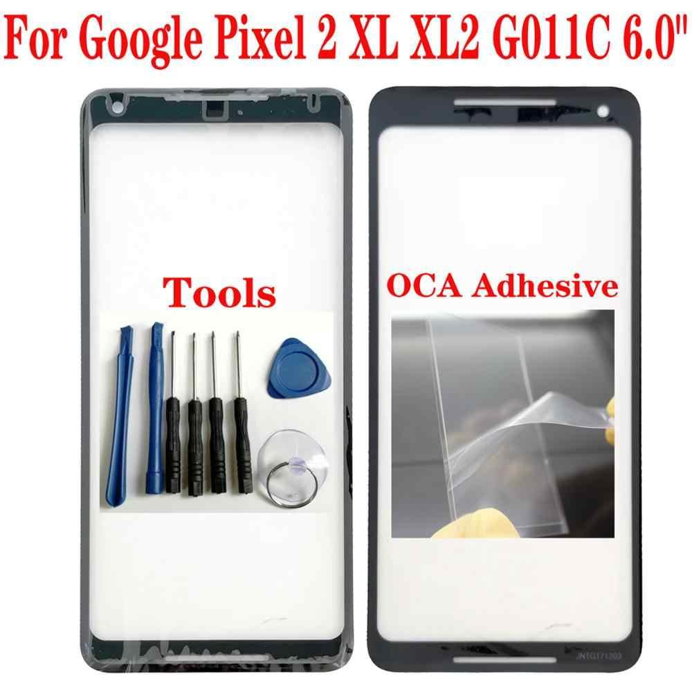 """Shyueda 100% Orig Baru Luar Layar 6.0 """"untuk Google Pixel 2 XL XL2 G011C Luar Layar Depan Lensa Kaca pengganti"""