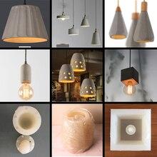 Gerade zylinder zement kronleuchter lampenschirm silikon form restaurant bar beton gips harz pendent lampe handwerk form