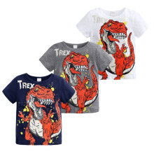 BOYS Clothing Summer Brand Children Boys Cartoon Dinosaur Letter Print 100% Cotton T-shirt Tops Shirts Tee Summer boy clothes лампа philips vision premium h7 12v 55w px26d 12972prc1
