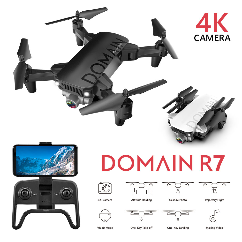 R7 RC Folding Drone With Wide-angle HD Camera RC 4K Helicopter Optical Flow Positioning WIFI Camera RC Helicopter VS F8 R8 SG706