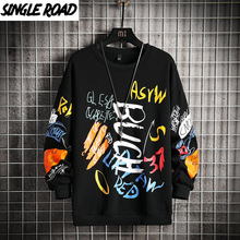 Padded Jacket Coat Outwear Parka Windbreaker Harajuku Graffiti-Print Warm Men Winter