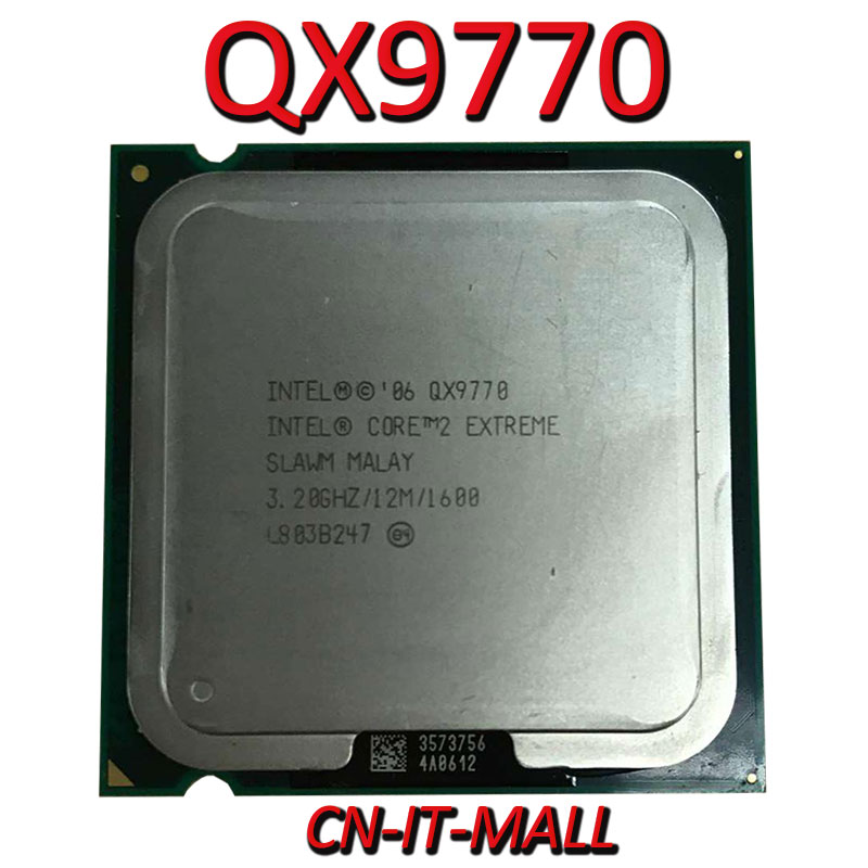 Intel Core QX9770 CPU 3.2G 12M 4 Core 4 Thread LGA775 Processor