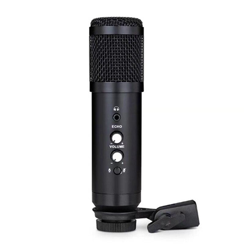 Microphone USB professionnel BM800 Microphone à condensateur avec Microphone de moniteur de retour d'oreille