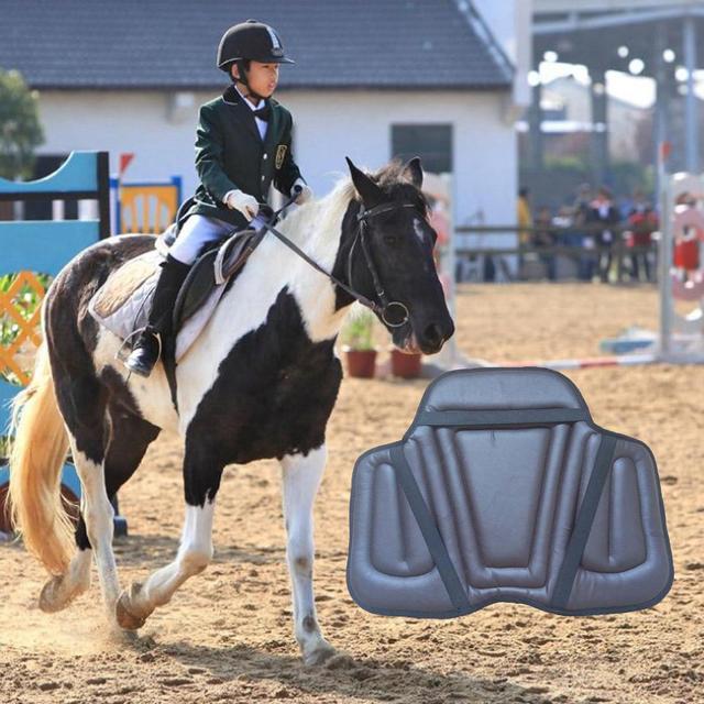 Leather Horse Riding Shock Absorbing Memory Foam Saddle Cushion   6