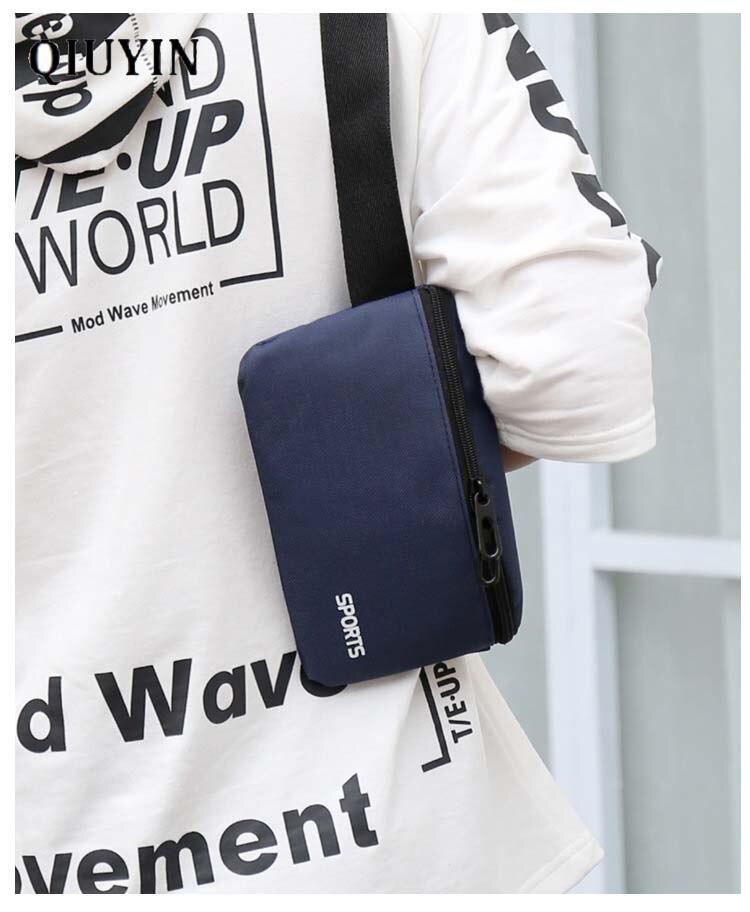 Qiuyin Luxury Brand Security Money Belt Nylon Oxford Cloth Men/male Waist Bag Sports Bum Bag Supreme Fanny Pack Zip Pouch Chest