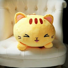 Speedline 35/45cm Cat Plush Toy Baby Soft Pillow Cute Stuffed Animal Soft Lovely Doll Gift for Kids Birthday Valentines Gift cute 45cm stuffed soft plush penguin toys stuffed animals doll soft sleep pillow cushion for gift birthady party gift baby toy