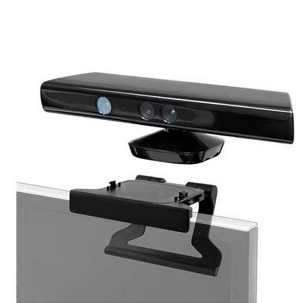 دائم استخدام البلاستيك الأسود البلاستيك مشبك التلفزيون المشبك جبل تصاعد حامل حامل مناسبة لمايكروسوفت Xbox 360 مستشعر حركي