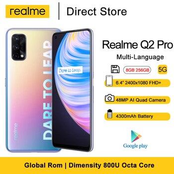 Realme Q2 Pro Smartphone 8GB 256GB 6.4'' 4300mAh 65W Fast Charger Dimensity 800U Octa Core  48MP AI Quad Camera  5G Cellphone 1