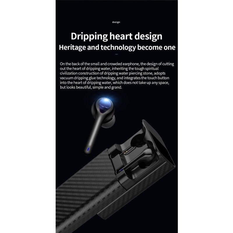 Беспроводной стерео наушники черный, белый цвет Bluetooth 5,0 наушники интеллигентая(ый) Шум Снижение Мини Размеры наушники с зарядный чехол HD