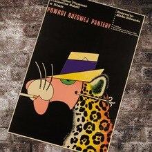 Retorno de La pantera rosa Polonia película polaco póster vintage retro lienzo cuadro adhesivo para pared arte hogar Decoración regalo