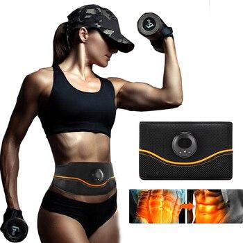 EMS przyrząd do treningu mięśni brzucha stymulator ABS elektrostymulacja Fitness masażer brzuch odchudzanie odchudzanie sprzęt do domowej siłowni