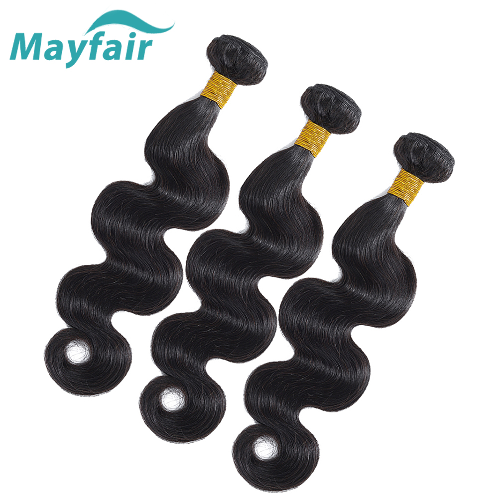 Mayfair Hair Peruvian Body Wave Hair Weave Bundles Natural Color 100% Human Hair Weaving 3/4 Pieces Non Remy Hair Extension