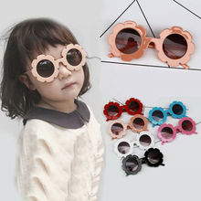 Kids Sunglasses Flower Boys Girls Round Glasses Children Baby Plastic Outdoor Eyewear Fashion UK