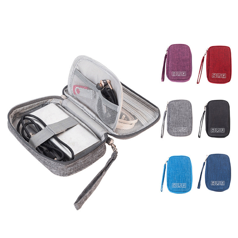 Men Portable Travel Accessory Cable Bag Multi-function Data Cable Charger Storage Bags Digital USB Electronic Gadget Organizer