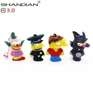 Image 2 - Shandian usb 3.0 バートシンプソンマウスウルフ 4 ギガバイト 8 ギガバイト 32 ギガバイトメモリスティックuディスクペンドライブホーマーペンドライブusbフラッシュドライブ