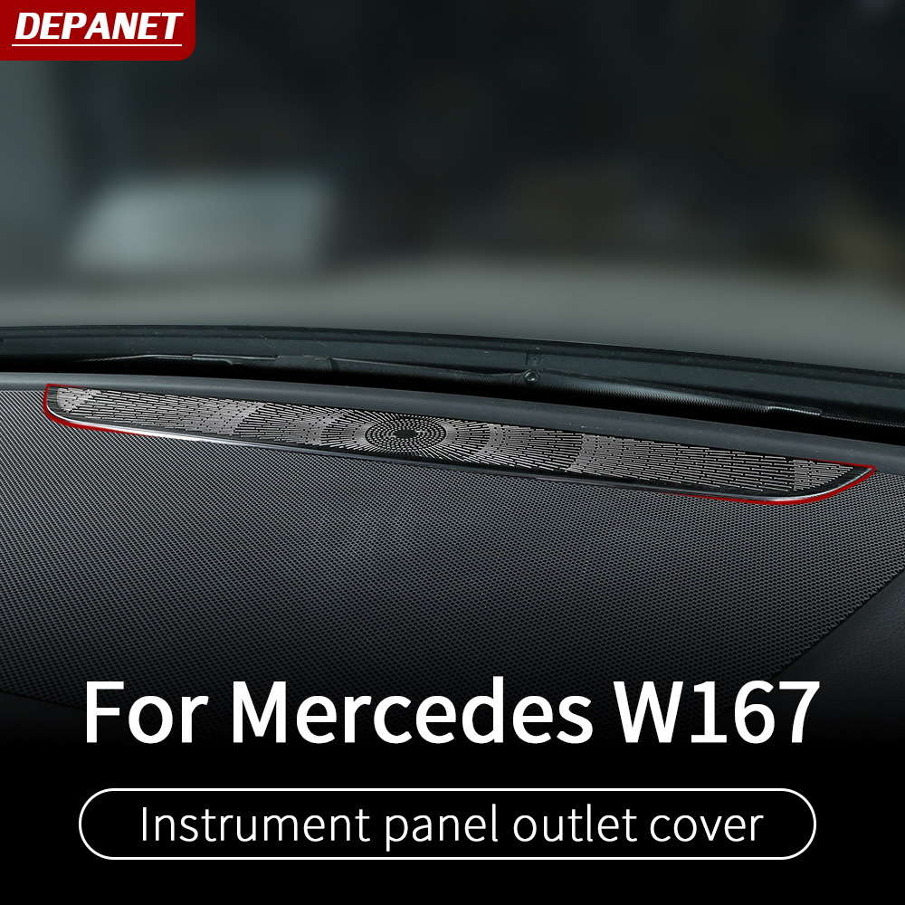 Silver interior trim for Mercedes GLE W167 350 450 500e gls w167 450 500 550  x167 interior decoration accessories