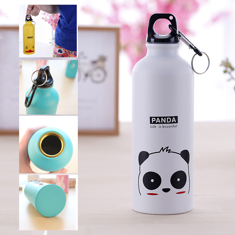 500ML Cute Animals Water Bottle Portable Drinking Water Coffee Tea Bottle Mug with Buckle for Hiking Cycling Camping Outdoor|Water Bottles| |  - AliExpress