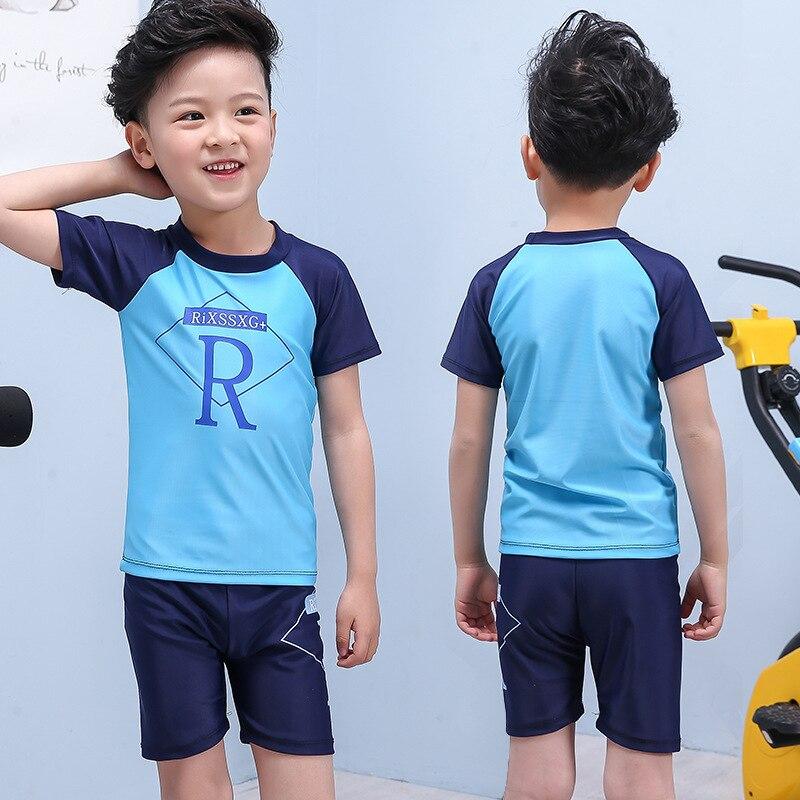 KID'S Swimwear BOY'S Split Type Swimwear Cute BOY'S Baby Big Boy Hot Springs Swimming Suit Set
