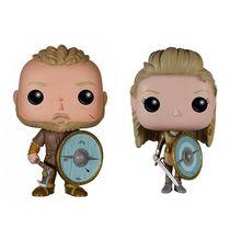 ヴァイキングのおもちゃ Ragnar Lothbrok と Lagertha アクションフィギュア人形子供のためのクリスマスのおもちゃ