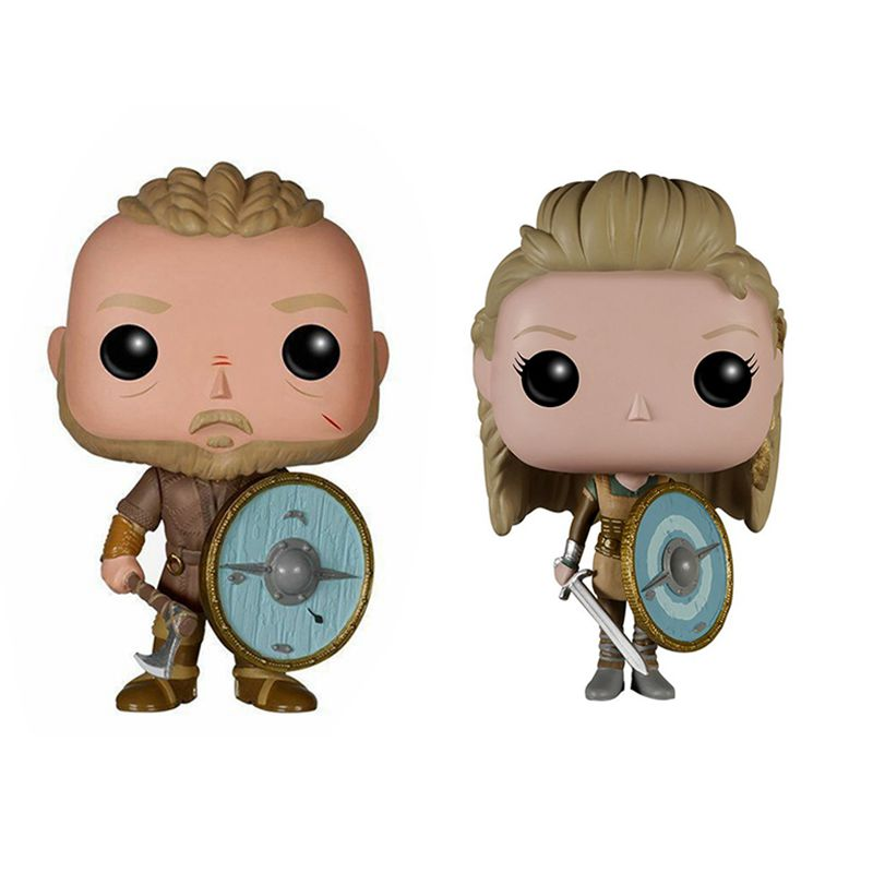 Vikings Toy Ragnar Lothbrok and Lagertha Action Figures Doll For Kids Christmas Toy-in Action & Toy Figures from Toys & Hobbies