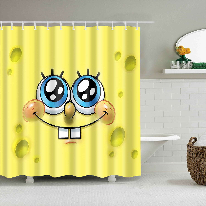 Stocked cartoon pattern bathroom curtain large 180x200cm Anime  bath shower curtain for bathroom  cortina  Polyester