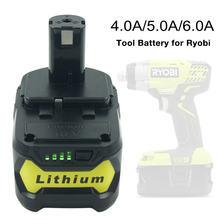 RB18L50 RB18L40 充電式バッテリー 18 v 4A/5A/6A リチウムイオン交換用バッテリーリョービ p 108 P100 P109 p104 P105 BPL1820 P106