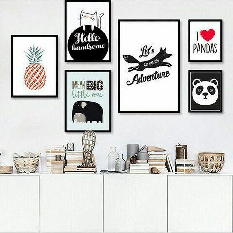 Новый стиль в Северном европейском стиле хипстер Животное мультфильм узор декоративная живопись детская комната спальня вешается на