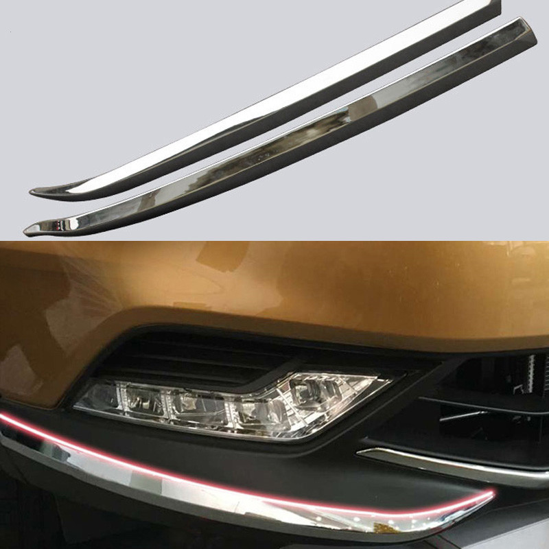 front bumper cover Trim corner scratch scuff protector Trim  decorative strip  Fit  for  Nissan Qashqai  2016 2017|Chromium Styling|   - AliExpress
