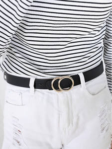 Buckle-Belt Jeans Students-Strap Vintage Casual Women Fashion Double New Cinto Feminino