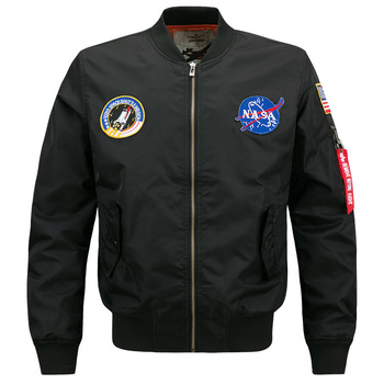 Jacket Men's Casual Flight Suit Coat Workwear Loose And Plus-sized Spring And Autumn Popular Brand Baseball Uniform Printed Logo