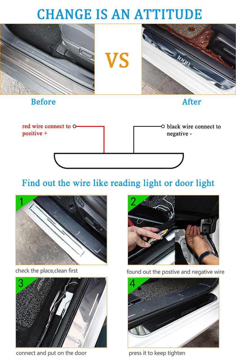 SJ Custom Fit Trim Pedaal Auto Exterieur Onderdelen LED Instaplijsten Scuff Plaat Auto Accessoires licht Voor Ford Everest 2015 2016 2017 18