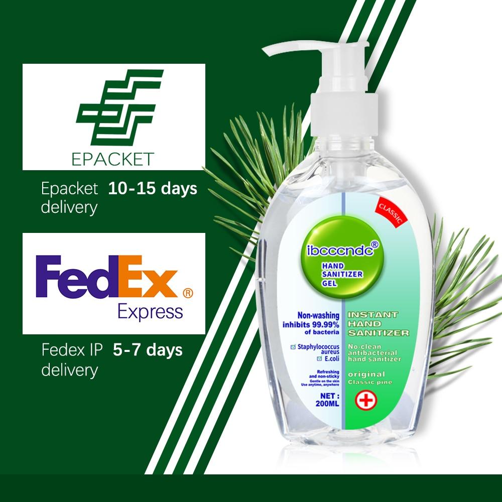 IN STOCK 50/200ml Portable Hand Sanitizer Gel 65% Alcohol Disinfection Antibacterial Gel Disposable Waterless Hand Gel Wholesale