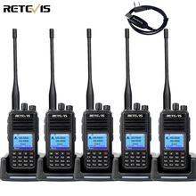 RETEVIS RT3S DMR Radio Digital Walkie Talkie GPS DMR Ham Radio Amador 5PCS 5W DMR VHF UHF Dual Band Compatible with Mototrbo/TYT