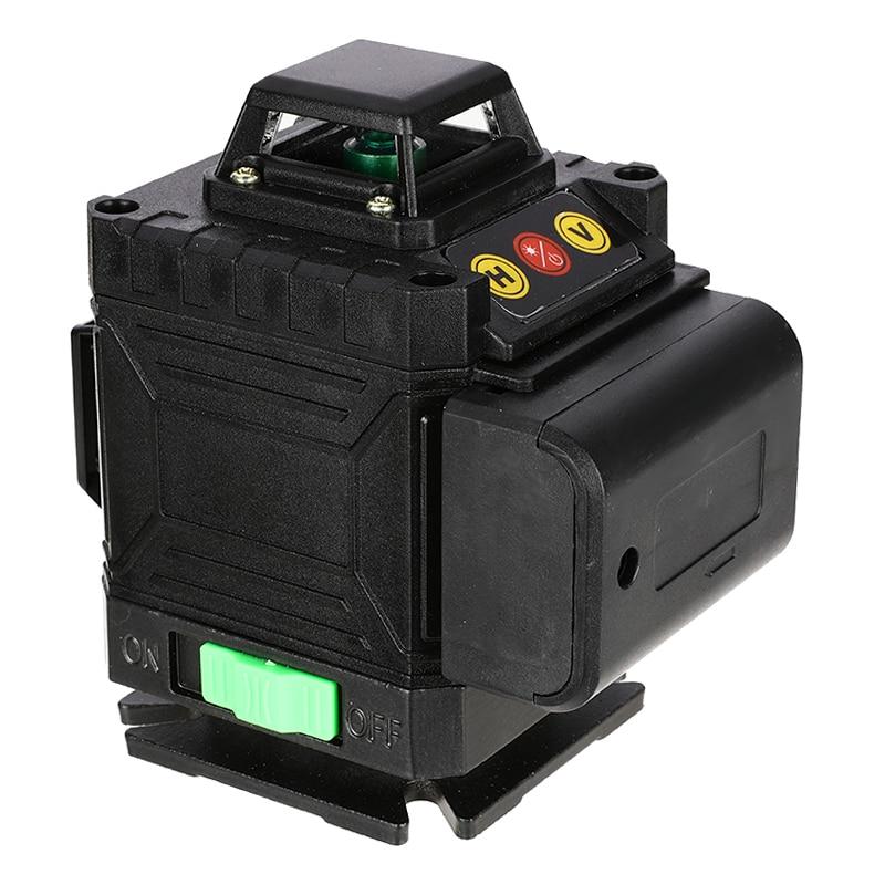 Láser autonivelante 3D Nivel 16 líneas 360 Cruz Horizontal y Vertical línea de haz de láser verde súper potente Nueva Luz LED de discoteca DJ RGB, luz de efectos de escenario, proyector láser con Control remoto, luces con Control de sonido inteligente para Bar KTV Party