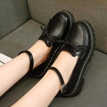 Shoes Sweet Lolita Low-Heel Japanese Vintage Korean Women Head Round Chic-Girl Small
