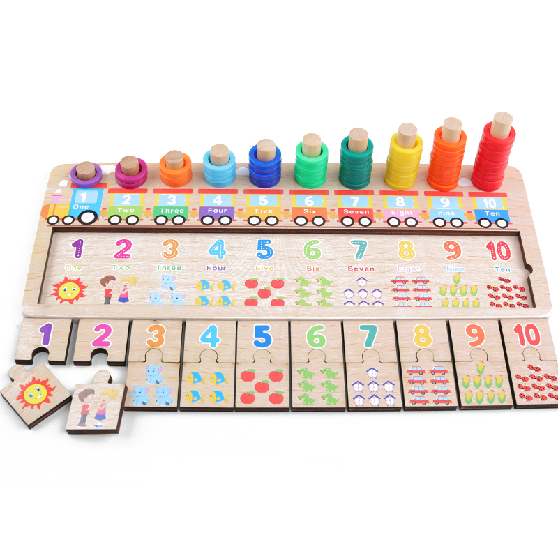 Baby Wooden Toys Montessori Math Toy Counting Digital Cognition Match Jigsaw Educational Toys Wooden Toys For Children